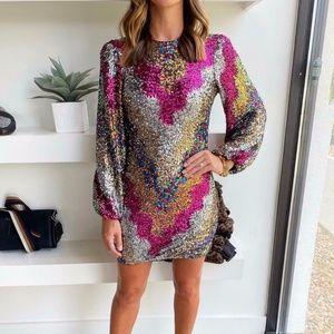 Saylor Allessandra Balloon Sleeve Party Dress S